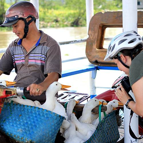 Mekong Cycling - see real local life at Vietnam Cycling tours